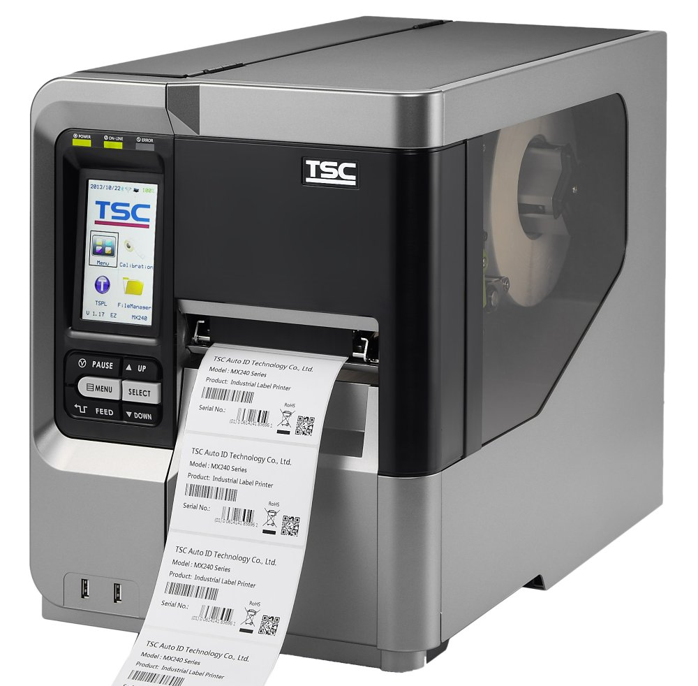 MX240 SERIES Industrial Thermal Transfer Bar Code Printer